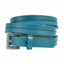 Kožený náramek modrý