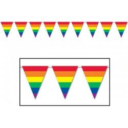 Duhové vlajky 9m (30 vlajek)