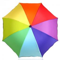 Duhový skládací deštník
