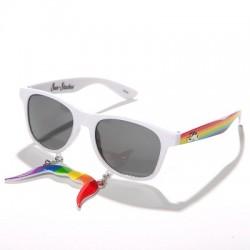 Duhové brýle s knírem