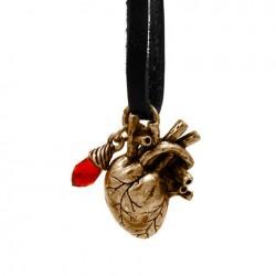 Přívěsek srdce na kůži