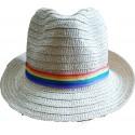 Duhový klobouk slaměný
