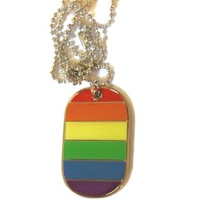 Gay pride Military Dog Tag