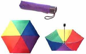 Duhový deštník skládací